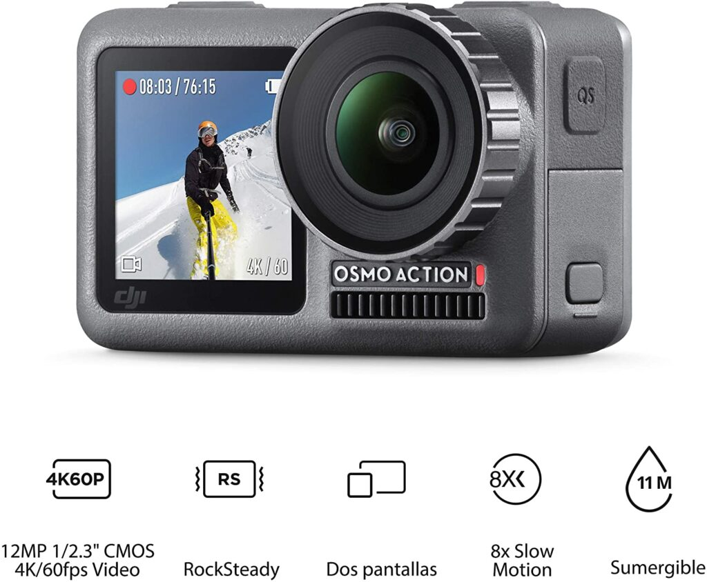 Cámara deportiva DJI Osmo action 4K a 60 FPS