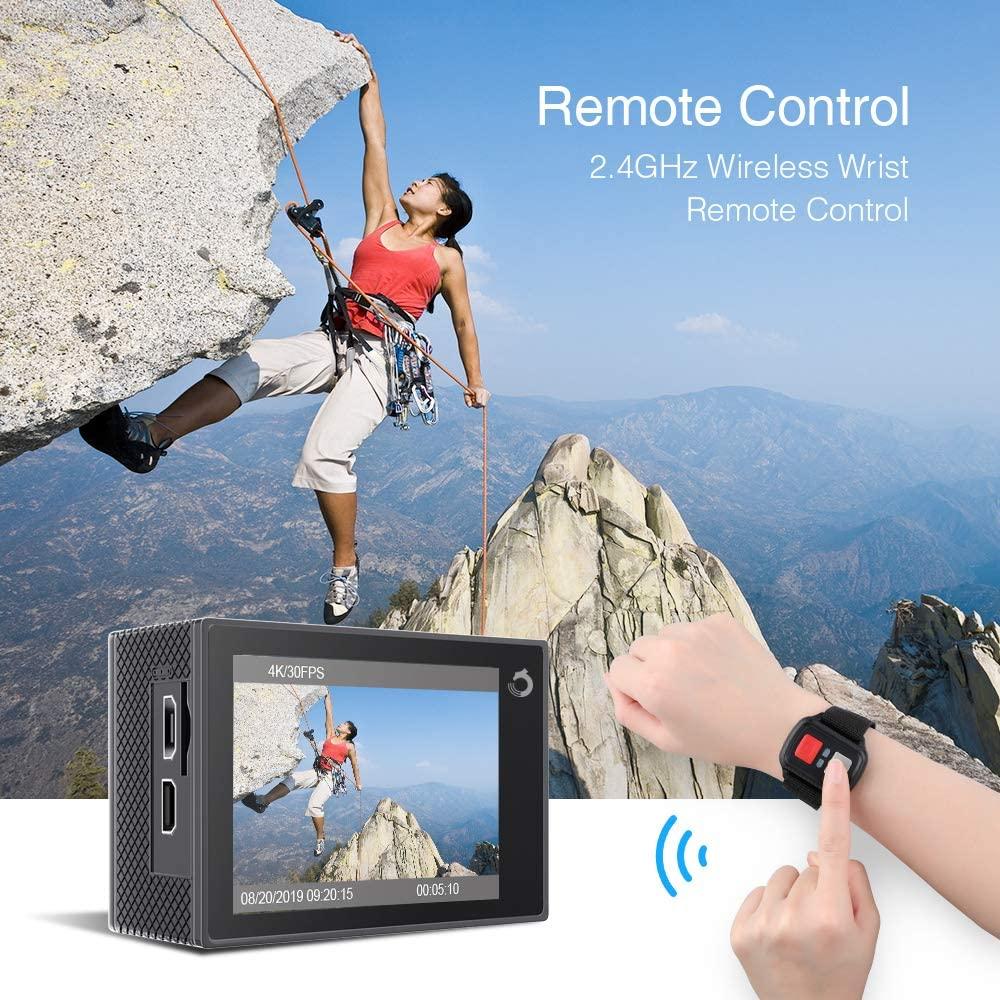 Cámara deportiva para alpinismo y escalar con mando a distancia