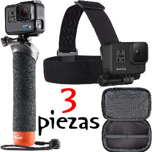 Pack de accesorios para gopro, el set GoPro incluye cinta para la cabeza, bastón y estuche, todos los productos oficiales